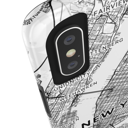 Mapify Tough Case with the Map of New York protects your phone from damages