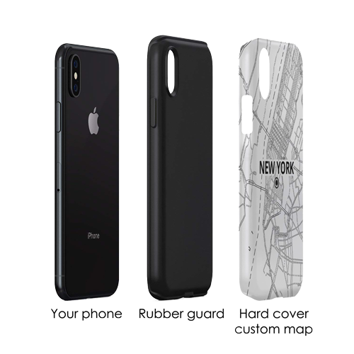 Protect your phone with an extra rubber layer of the Mapify Tough Case