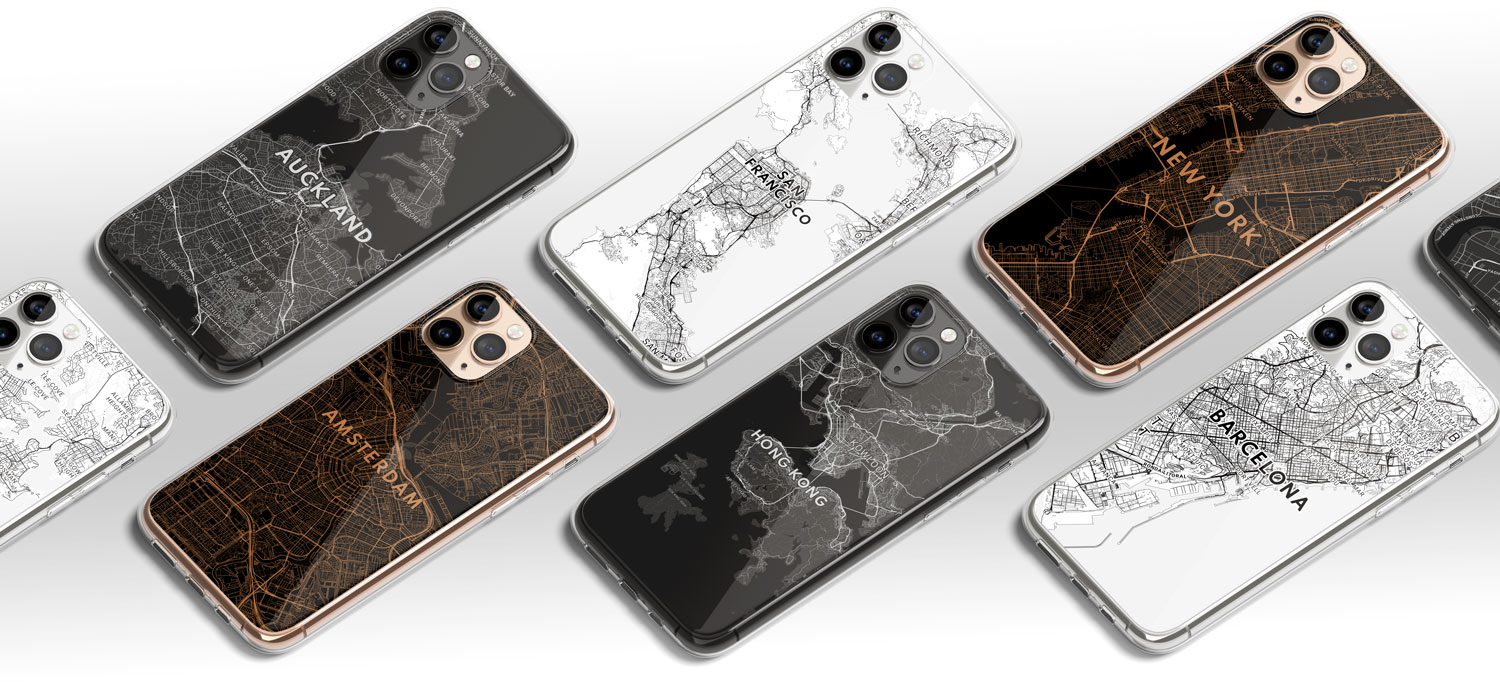 Mapify map phone case clear case any location examples